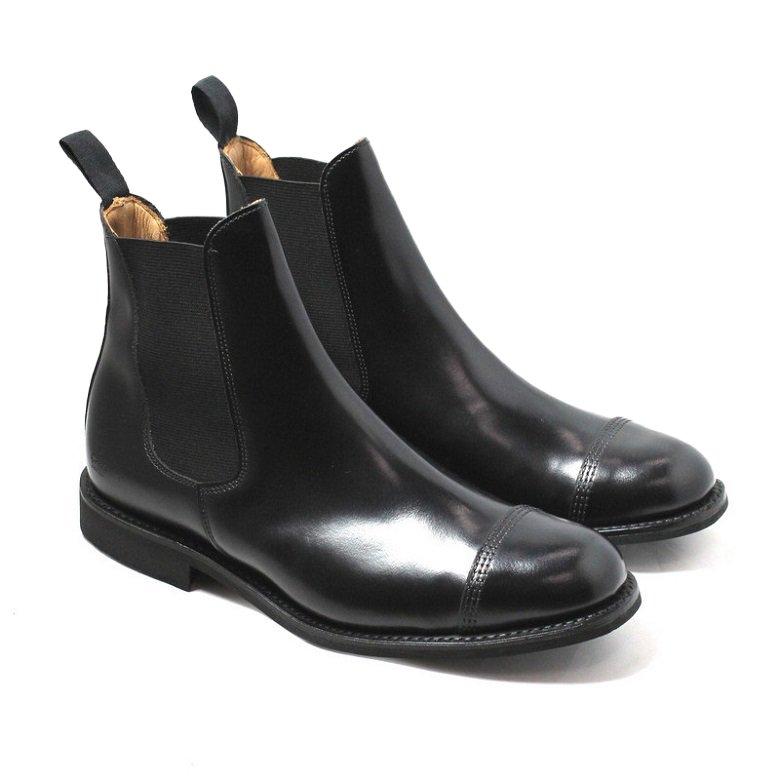 Military Cap Toe Chelsea Boot