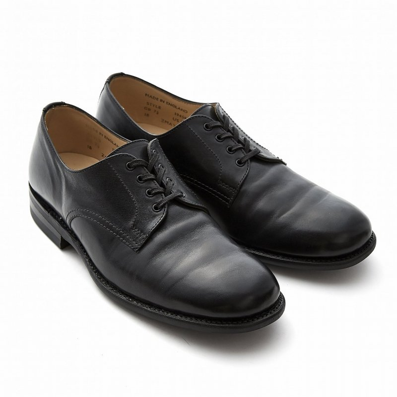 B.G.S. Collection / Plain Toe Derby_Waxy Leather