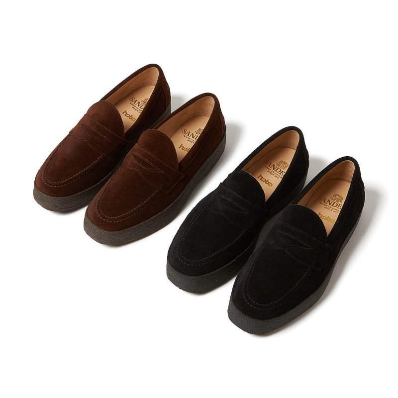 MUDGUARD COW LEATHER LOAFER For hobo(BLACK)
