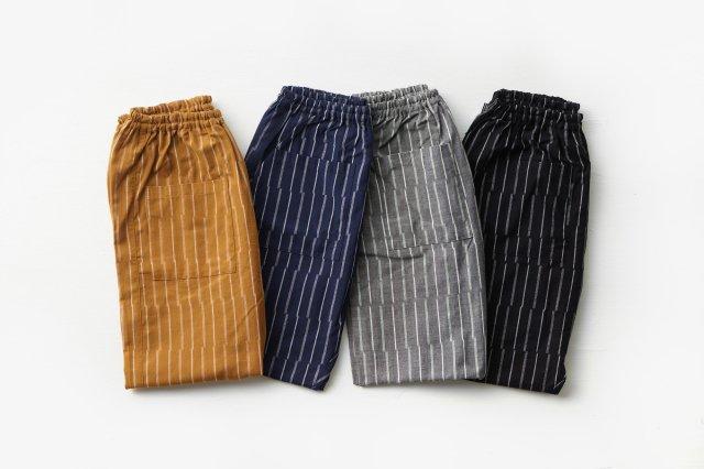 もんぺ ずらしストライプ  薄地 (4色) うなぎの寝床