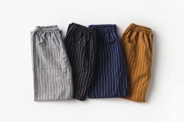 もんぺ ずらしストライプ 厚地 (4色) うなぎの寝床