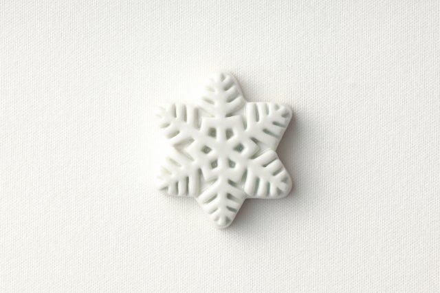 白磁箸置き (雪) 阿部春弥