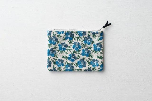 青い花のポーチ ALDIN アルディン