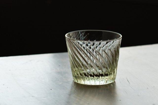 くるみガラス ロックグラス ガラス工房 橙