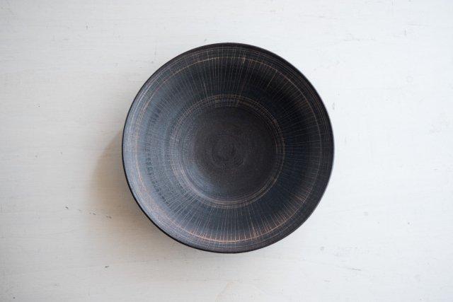 黒線紋大皿 21cm 角りわ子