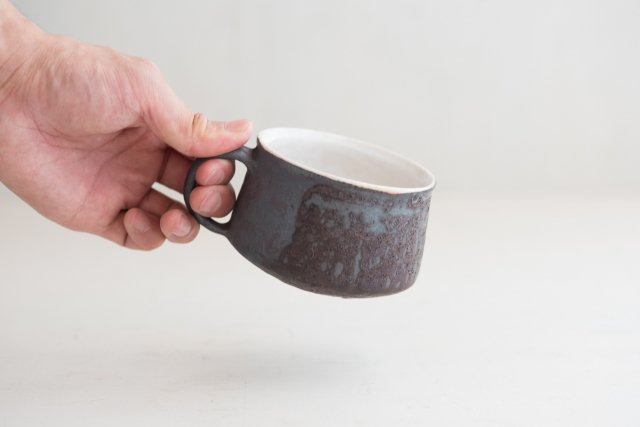 黒釉 マグカップ 境道一