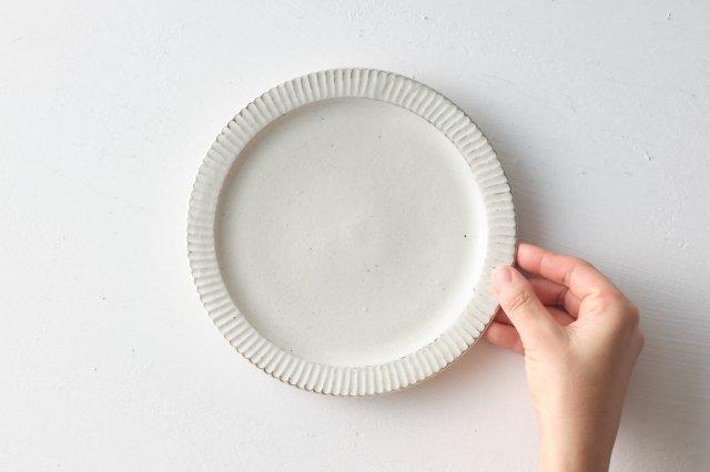 縞リム6寸皿 戸津圭一郎