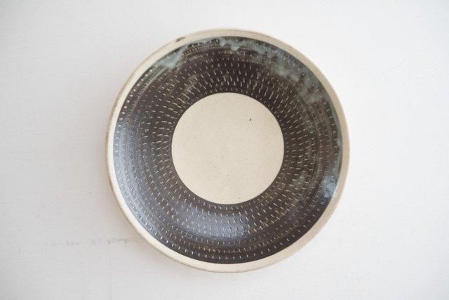 飛び鉋 8寸皿 戸津圭一郎