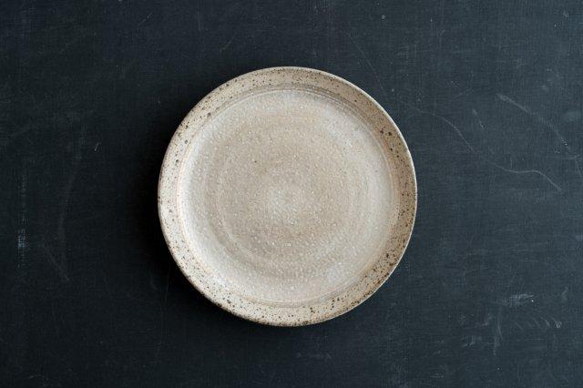 白釉銀彩皿 5.5寸 角りわ子