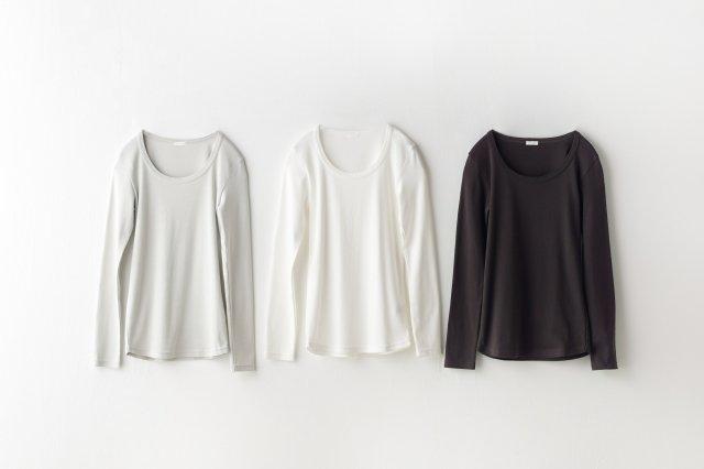 5本針長袖Tシャツ yohaku(余白)