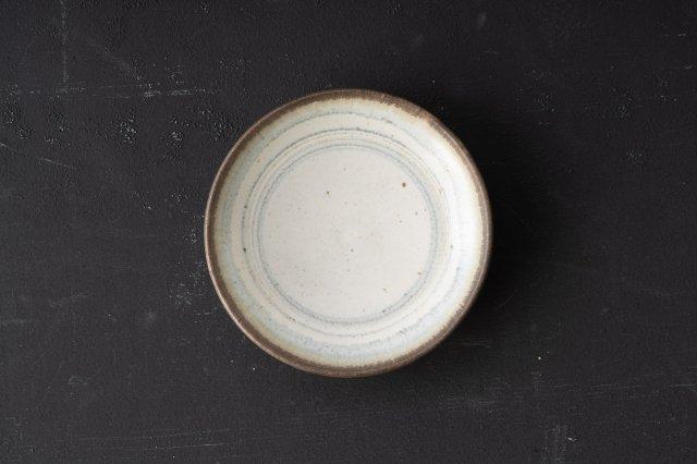 白色釉呉須線 小皿 角りわ子