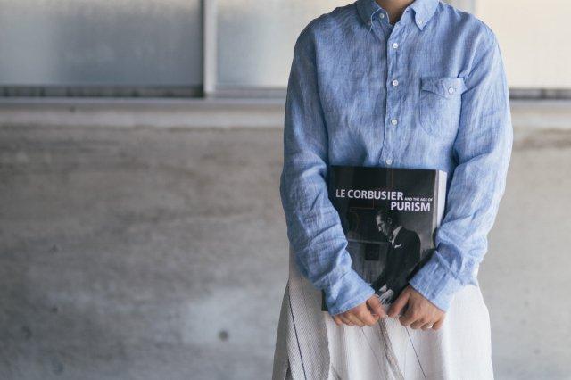 h.b b.dシャツ フレンチリネンシャンブレー classico(クラシコ)