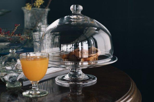 クリアケーキドーム ガラス工房 橙