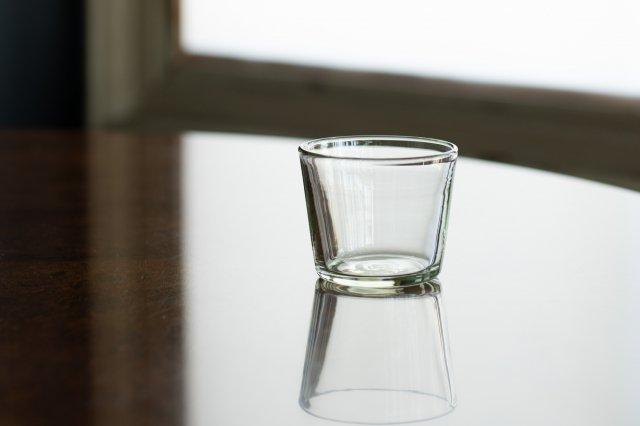 くるみガラス そば猪口 Mサイズ ガラス工房 橙