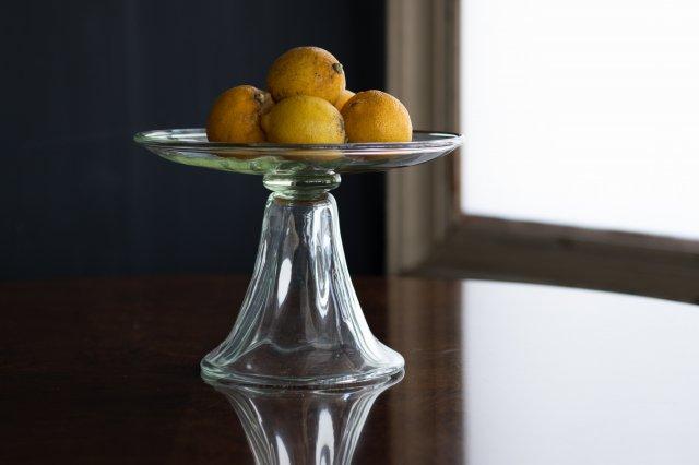 くるみガラス コンポート ガラス工房 橙