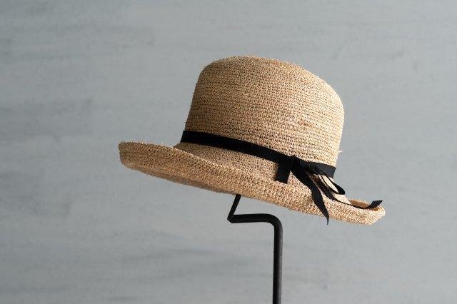 帽子 ラフィアかぎ編みセーラー10 石田製帽