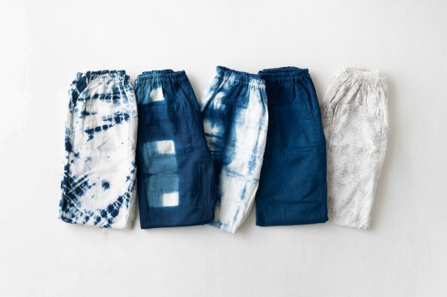 産地コラボもんぺ 宝島染工 藍染・墨染 うなぎの寝床