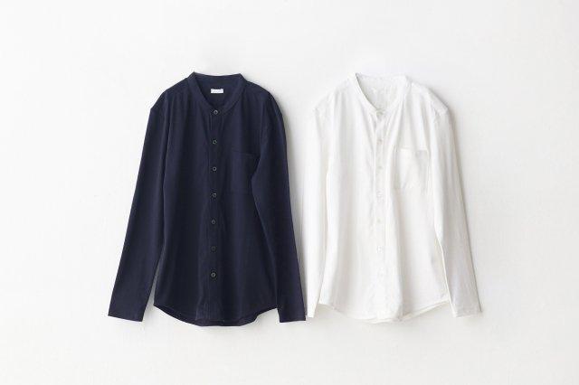 Suvin スタンドカラーシャツ yohaku(余白)