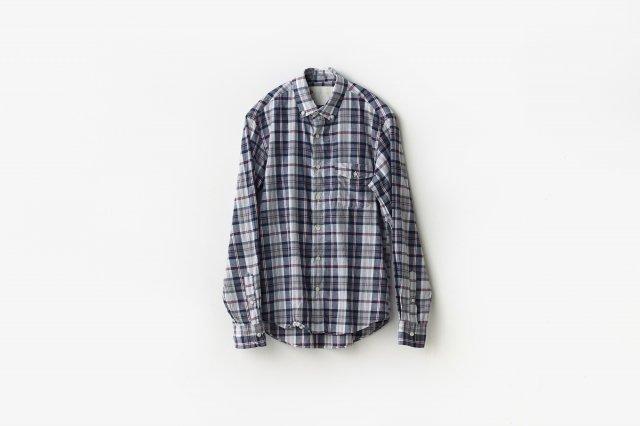 h.b b.dシャツ コットンリネンチェック classico(クラシコ)