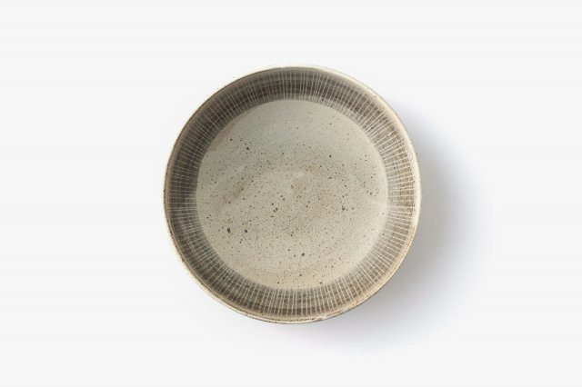 白釉呉須紋 深皿 角りわ子