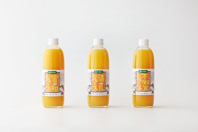 【3種飲み比べセット】 柑橘ストレートジュース のうみん