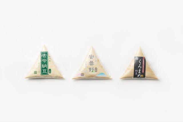 納豆 経木仕込み 古今小粒・安曇野大粒・北海道くろまめ 村田商店