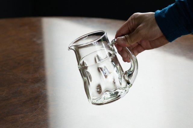 くるみガラス ピッチャージャグ ガラス工房 橙