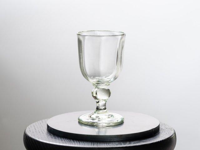 くるみガラス ワイングラス ガラス工房 橙