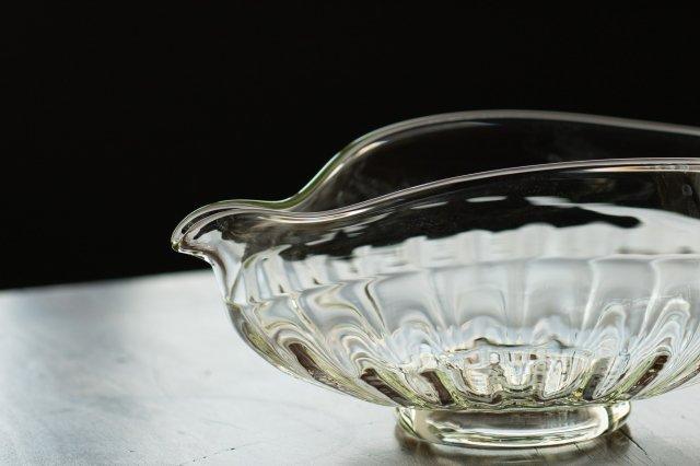くるみガラス  片口 ガラス工房 橙