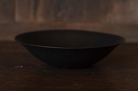 黒漆 葉反7寸鉢 後藤睦