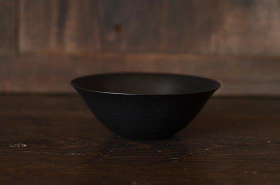 黒漆 葉反4.5寸鉢 後藤睦