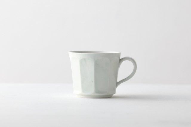 白磁面取りコーヒーカップ 阿部春弥