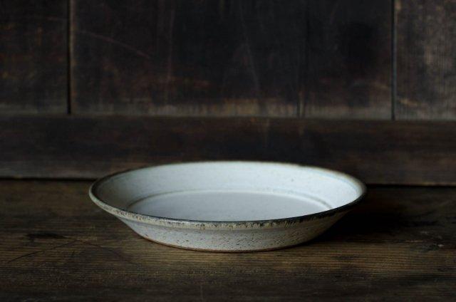 白マットブルーライン 皿 6寸 角りわ子