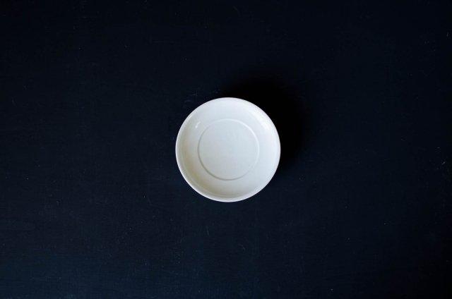白磁 5寸リム皿 阿部春弥