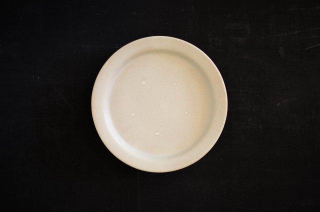 白マット 5寸皿  境道一