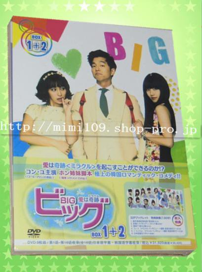♪BIGビッグ  愛は奇跡BOX1+2 1-16話(全16話)本編+特典 日本語吹き替え♪9枚