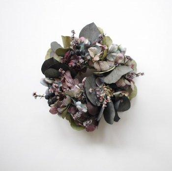 紫陽花とユーカリのリース s(box付き)