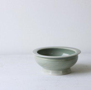 いにま陶房/やさしい器 こども茶碗 ライトグリーン