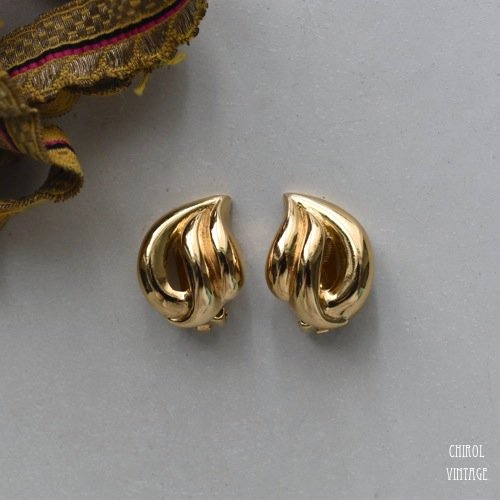 Christian Dior クリスチャンディオール ゴールドメタルイヤリング