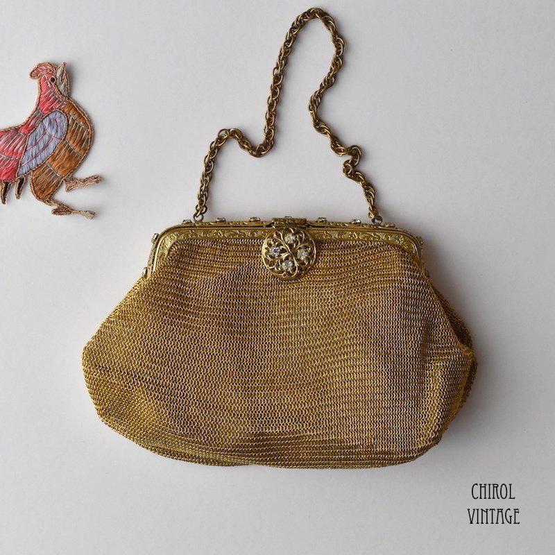 ゴールドメッシュチェーンミニバッグ