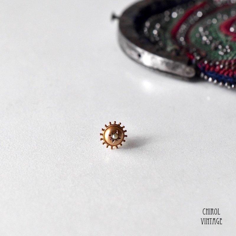 9Kゴールド シードパール エトラスカンピアス(single)