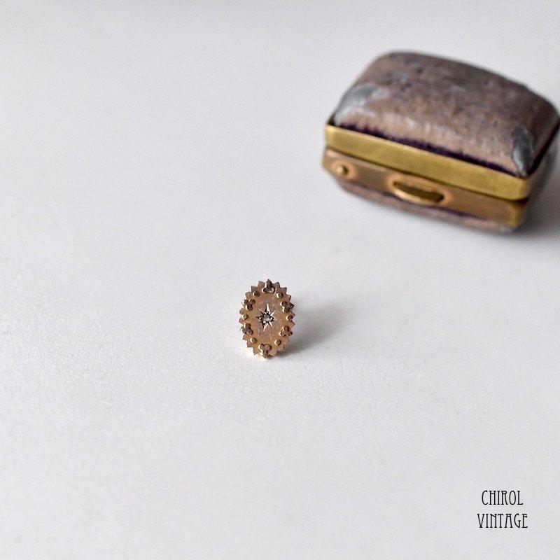9Kゴールド ダイアモンド オーバルジプシーピアス(single)