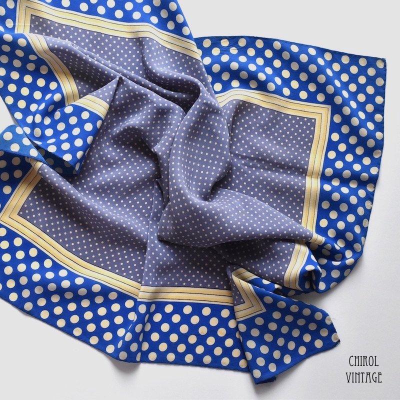 ブルートーン ドットスカーフ