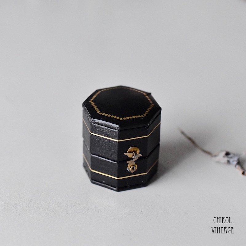 アンティークスタイル リングケース (octagon/black)