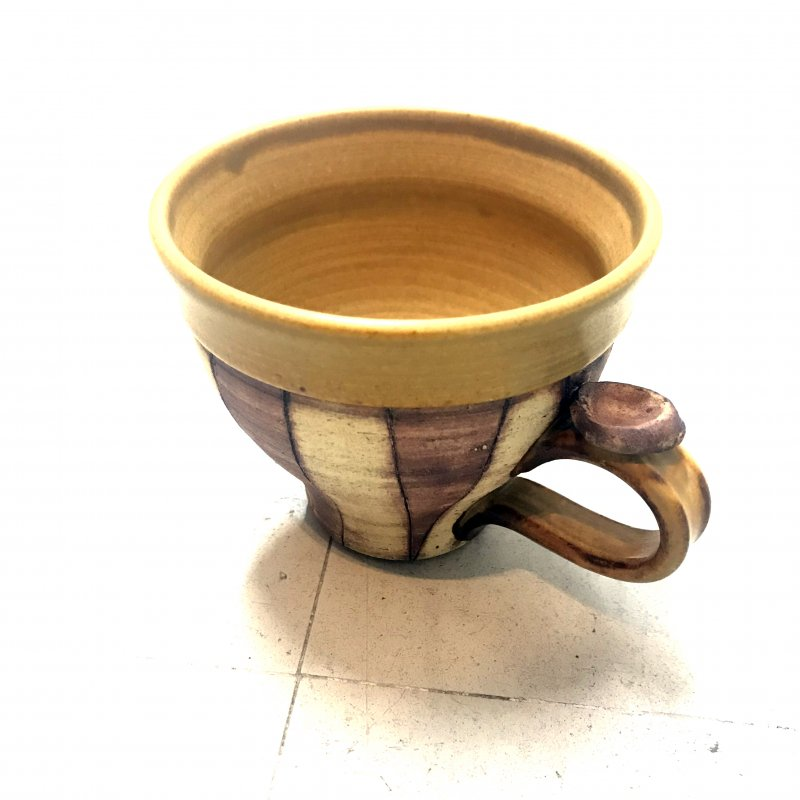 黄瀬戸 しましまカップ