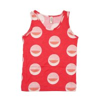 Popupshop (ポップアップショップ) プリント タンクトップ サマーレッド(Tank Top Summer Red Print)<img class='new_mark_img2' src='//img.shop-pro.jp/img/new/icons20.gif' style='border:none;display:inline;margin:0px;padding:0px;width:auto;' />