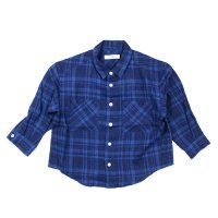 Cokitica (コキチカ) リネン チェック シャツ ブルーチェック (Linen Check Shirt Bluecheck)