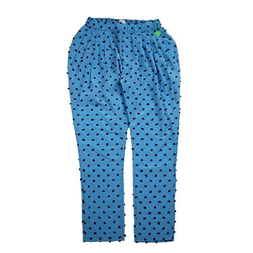 Franky Grow (フランキーグロウ) レディース ボンボンカット ジャガードプリーツパンツ ブルー&ブラック (WOMEN'S BONBON CUT JQ PLEATS PANTS…