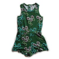 Mini Rodini (ミニロディーニ) デイジー サマースーツ グリーン (Daisy Summer Suit Green)