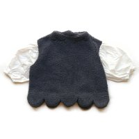 Franky Grow (フランキーグロウ)アイラッシュスカロップ ヘムボア トップス グレー&ホワイト (Eyelash Scallop Hem Boa TP Grey&White)<img class='new_mark_img2' src='//img.shop-pro.jp/img/new/icons5.gif' style='border:none;display:inline;margin:0px;padding:0px;width:auto;' />